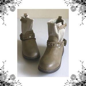 {Coolway} Faura Khaki Embellished Boots
